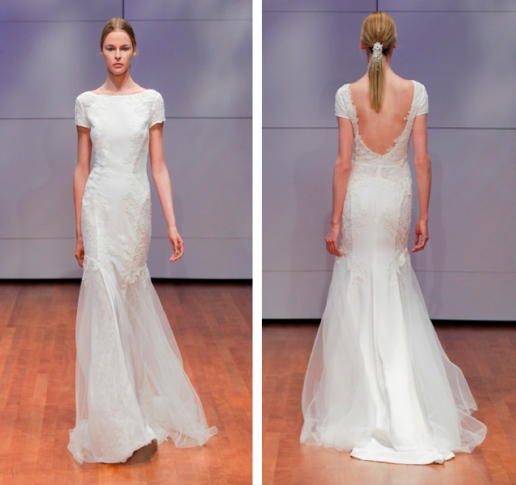 Rivini Lace Tiered Wedding Gown: Musette Bridal Boutique Boston